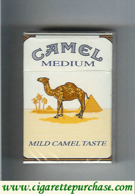 Discount Camel Medium Mild Camel Taste cigarettes hard box
