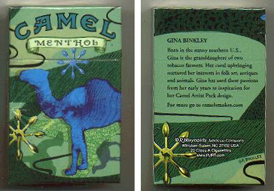 Discount Camel Menthol Art Issue cigarettes hard box