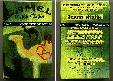Discount Camel Menthol Lights Smokers Pack Designs Volume 2 cigarettes hard box