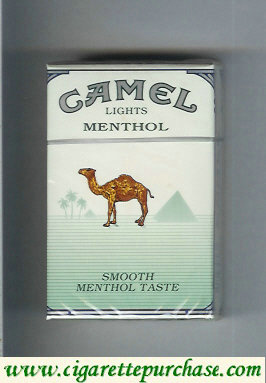 Discount Camel Menthol Lights Smoosh Menthol Taste cigarettes hard box