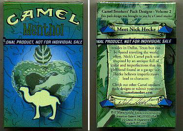 Discount Camel Menthol Smokers Pack Designs Volume 2 cigarettes hard box