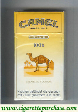 Discount Camel Mild Balanced Flavour 100s cigarettes hard box