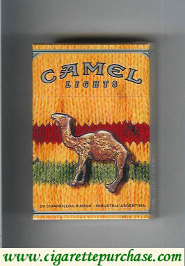 Discount Camel Night Collectors Reggae Lights cigarettes hard box