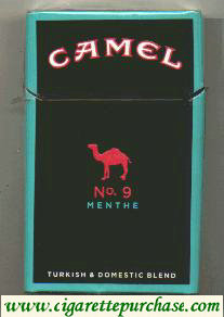 Camel No.9 Menthe cigarettes hard box