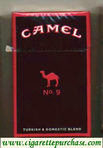 Discount Camel No.9 cigarettes hard box