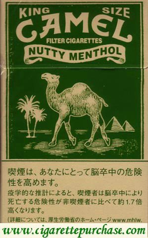 Discount Camel Nutty Menthol cigarettes hard box