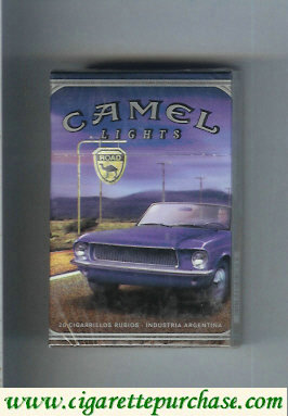 Camel Road Lights hard box cigarettes