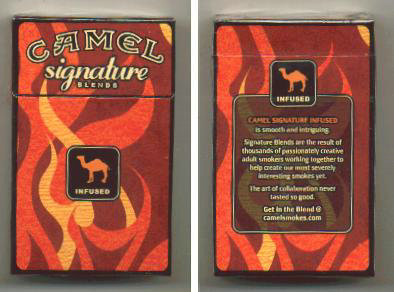 Camel Signature Blends Infused cigarettes hard box