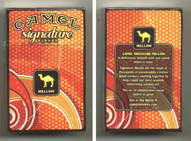 Discount Camel Signature Blends Mellow cigarettes hard box