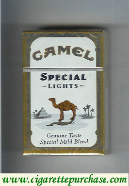 Discount Camel Special Lights Genuine Taste Special Mild Blend cigarettes hard box