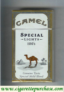 Discount Camel Special Lights Genuine Taste Special Mild Blend 100s cigarettes long size hard box