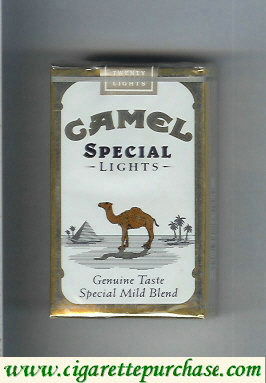 Discount Camel Special Lights Genuine Taste Special Mild Blend cigarettes soft box