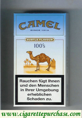 Camel Subtle Flavour Lights 100s cigarettes hard box