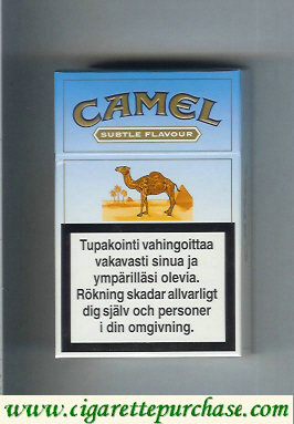 Discount Camel Subtle Flavour Lights cigarettes hard box
