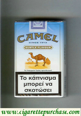 Discount Camel Subtle Flavour Lights cigarettes soft box