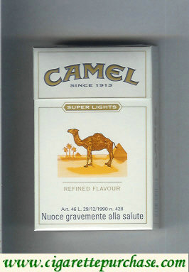 Discount Camel Super Lights Refined Flavour cigarettes hard box