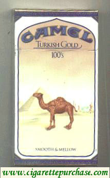 Camel Turkish Gold 100s cigarettes hard box