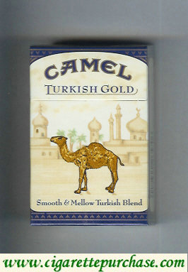 Camel Turkish Gold Smooth & Mellow Turkish Blend cigarettes hard box