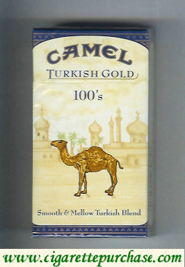 Discount Camel Turkish Gold Smooth Mellow Turkish Blend 100s cigarettes hard box