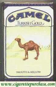 Camel Turkish Gold cigarettes hard box