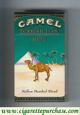Discount Camel Turkish Jade Mellow Menthol Blend 100s cigarettes hard box