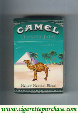Discount Camel Turkish Jade Mellow Menthol Blend Lights cigarettes hard box