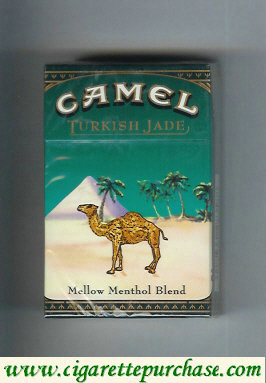 Camel Turkish Jade Mellow Menthol Blend cigarettes hard box