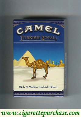 Camel Turkish Royal Rich Mellow Turkish Blend cigarettes hard box