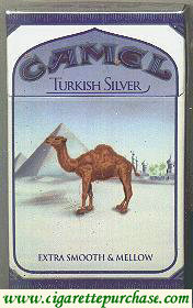 Discount Camel Turkish Silver cigarettes hard box