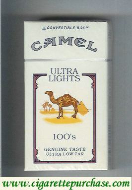 Discount Camel Ultra Lights Genuine Taste Ultra Low Tar 100s cigarettes hard box