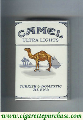 Discount Camel Ultra Lights Turkish Domestic Blend cigarettes Hard box