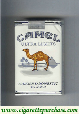 Discount Camel Ultra Lights Turkish Domestic Blend cigarettes king size soft box