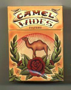 Discount Camel Wides Art Issue cigarettes hard box