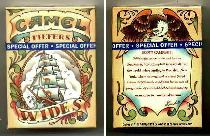 Discount Camel Wides Filters Art Issue cigarette hard box