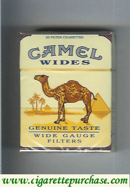 Discount Camel Wides Filters Genuine Taste Wide Gauge cigarettes hard box