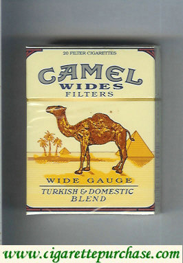 Discount Camel Wides Filters Wide Gauge Turkish Domistic Blend cigarettes hard box