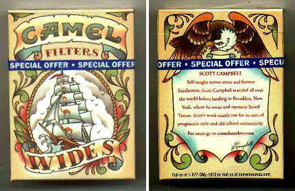 Camel Wides Filters cigarettes hard box