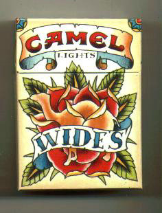 Discount Camel Wides Lights Art Issue cigarettes hard box