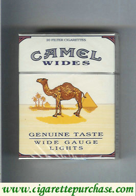 Discount Camel Wides Lights Genuine Taste Wide Gauge cigarettes hard box