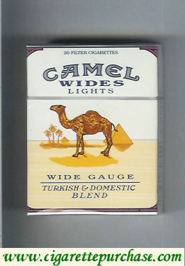 Discount Camel Wides Lights Wide Gauge Turkish Domistic Blend cigarettes hard box