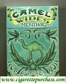 Discount Camel Wides Menthol Art Issue cigarettes hard box