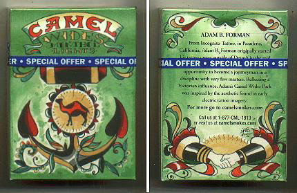 Discount Camel Wides Menthol Lights cigarettes hard box