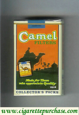 Camel cigarettes Collectors Packs 1918 Filters soft box