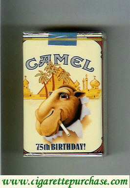 Discount Camel collection version 75th Birthday Filters cigarettes hard box