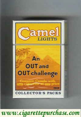 Discount Camel collection version Collectors Packs 1918 Lights cigarettes hard box