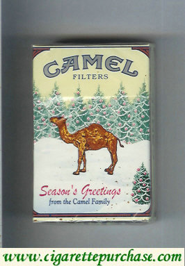 Discount Camel collection version Seasons Greetings Filters cigarettes hard box