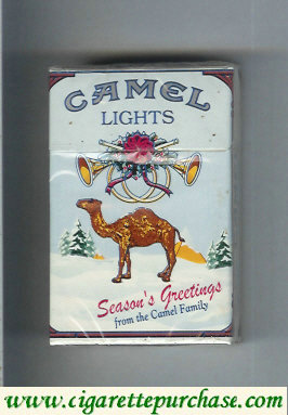 Camel collection version Seasons Greetings Lights cigarettes hard box