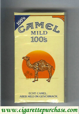 Discount Camel with red sun Mild 100s cigarettes hard box