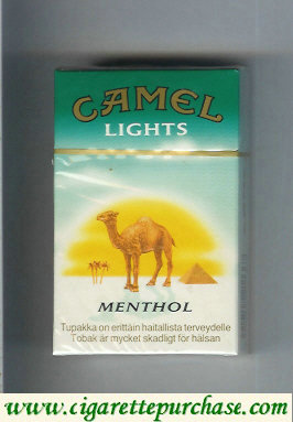 Camel with sun Menthol Lights cigarettes hard box