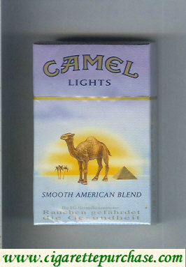 Camel with sun Smooth American Blend Lights cigarettes hard box